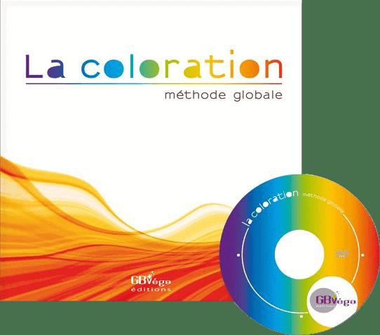 Couverture du livre La coloration methode globale (livre+DVD)